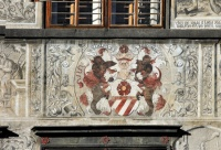 Prachatice Town - The richly decorated facade of the Old Town Hall (No. 1), photo by: Archiv Vydavatelství MCU s.r.o.