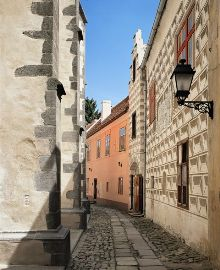 Prachatice Town - Prachatice has still retained its Medieval character (looking down Děkanská Street), photo by: Archiv Vydavatelství MCU s.r.o.