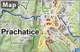 Prachatice on the map