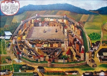 Prachatice Town - The Prachatice Museum displays a picture of the town from the painter Henry de Verle from 1670, photo by: Archiv Vydavatelství MCU s.r.o.